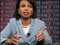 Condoleezza Rice at Face the Nation, CBS, Sunday