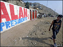 Election publicity in Huaycan, south of Lima