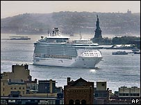 Freedom of the Seas arriving in New York on 12 May