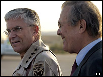General Casey and US Defence Secretary Rumsfeld