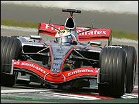Juan Pablo Montoya in his McLaren-Mercedes
