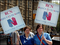Nurses protest at Westminster