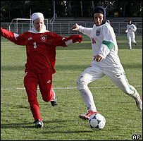 Iran's women take on Germany