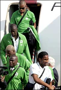 Ivorian football team arrives Koln, Germany