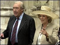 Major Shand and the Duchess of Cornwall
