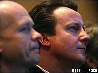 William Hague and David Cameron