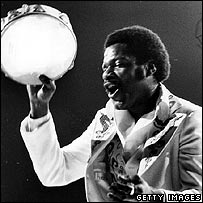 Billy Preston on stage during a Rolling Stones Concert at Earls Court, London