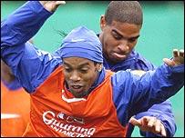 Ronaldinho and Adriano
