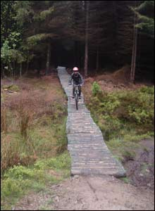 Peter Stevens took this shot of his 14-year-old nephew Andrew Beattie at Coed Llandegla