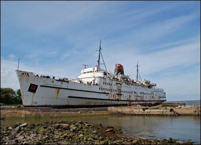 The Duke of Lancaster boat at Mostyn (Jeff Dalton)