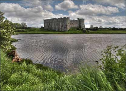 Sean Bolton sent in this view of Pembrokeshire's Carew Castle