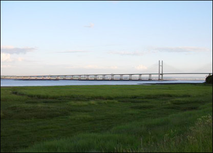 Evening view of Second Severn Crossing from Black Rock, Monmouthshire (Michael Stevens)