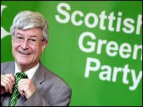 Scottish Greens' co-leader Robin Harper