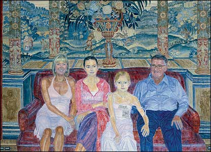 Leonard McComb - Portrait of Simon, Karen Day, and Family