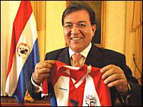 El presidente de Paraguay, Nicanor Duarte, augura que Paraguay jugará la final en el mundial de Alemania