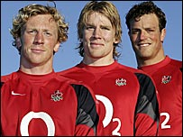 Peter Richards (left), Magnus Lund (centre), Alex Brown (right)