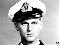 Prince Philip in Royal Navy uniform in 1946