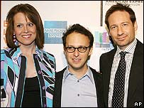 Sigourney Weaver, Jake Kasdan and David Duchovny