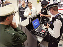 Police at Heathrow World Cup check point