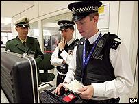 PC Pete Dearden checks records