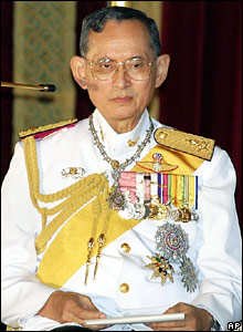 King Bhumibol in Bangkok in February 2001