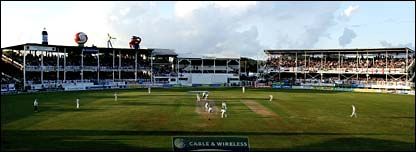 England take on the West Indies at the ARG