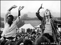 Fans at the 1970 Isle of Wight festival