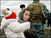 Mother and child in Chechnya