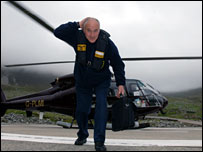 John Macaulay and helicopter