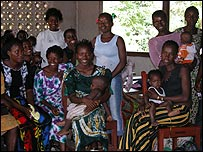 Mothers and their babies in Makeni, Sierra Leone