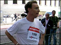 Labour MP for Eastwood Jim Murphy finished first in 5:19 secs