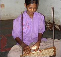 Child worker in Indian match factory