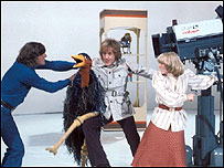 Rod Hull and Emu on Blue Peter