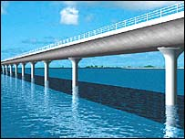 Artist's impression of the new bridge
