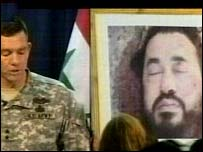 Image of Zarqawi's body displayed at US military briefing