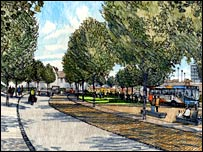 Artist's impression of Somerset Road