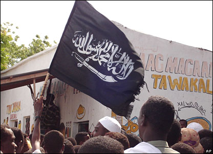 Islamist supporters in Somalia