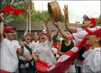 Tunisian football supporters