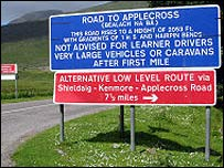 Applecross sign (Pic: Undiscovered Scotland)