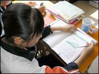 На уроке русского языка в китайской школе