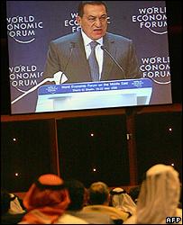 Hosni Mubarak, presidente de Egipto.
