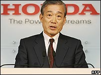 Honda president Takeo Fukui
