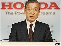 Honda president Takeo Fukui