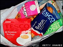 Tesco shopping bag
