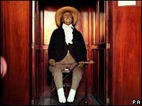 Jeremy Bentham's remains, PA