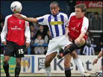 Rotherham in action against Colchester