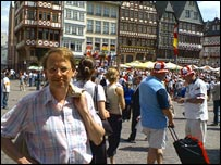 Michael in Frankfurt's main square