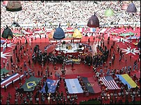 A spectacular opening ceremony opened the Fifa 2006 World Cup finals