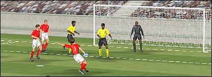Imagen virtual de un gol de Frank Lampard.
