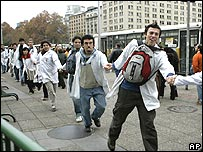 Chilean students protest on Wednesday